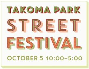 Takoma Park Street Fest Sign