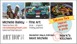 Michelle Bailey -Art Hop Takoma Mark's Kitchen