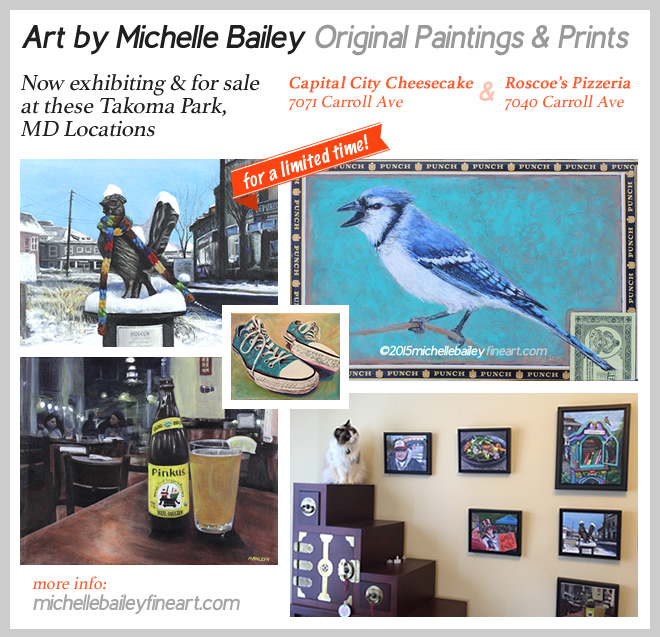Art Gifts by Michelle Bailey available at Roscoe's and Captial City Cheesecake in Takoma Park