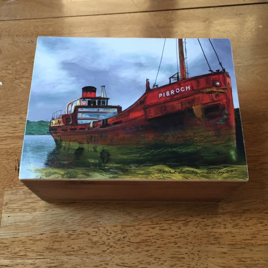 Michelle Bailey Cigar Box Paintings