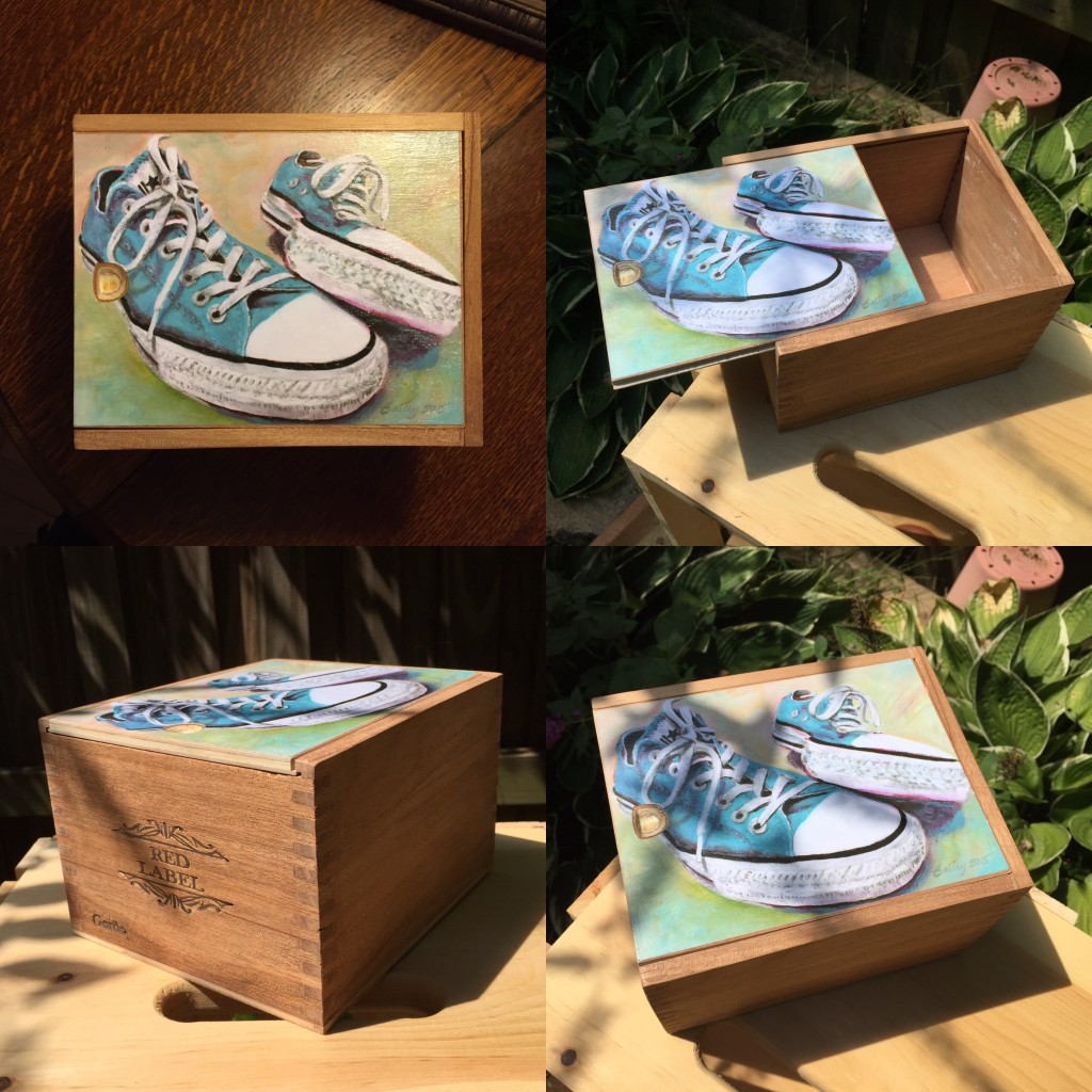 Michelle Bailey Cigar Box Paintings