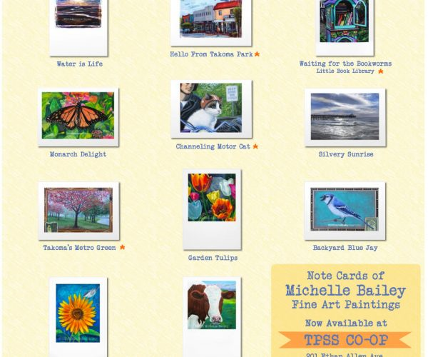 Michelle Bailey Fine Art Card Collection available at TPSS CO-OP